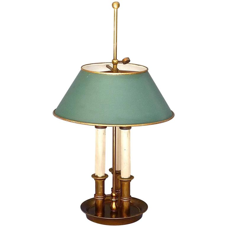 Maison Bagues Or Maison Charles Bronze Brass Bouillotte French Table Lamp  1945 For Sale