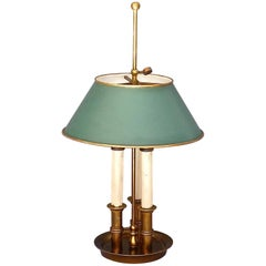 Maison Bagues or Maison Charles Bronze Brass Bouillotte French Table Lamp 1945