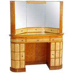 Italian Art Deco Secretary Vanity Dressing Table Attributed to Paolo Buffa