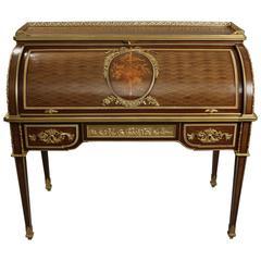 19th Century Francois Linke Roll Top Desk