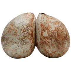 Alan Wallwork British Studio Pottery Double Pod Form