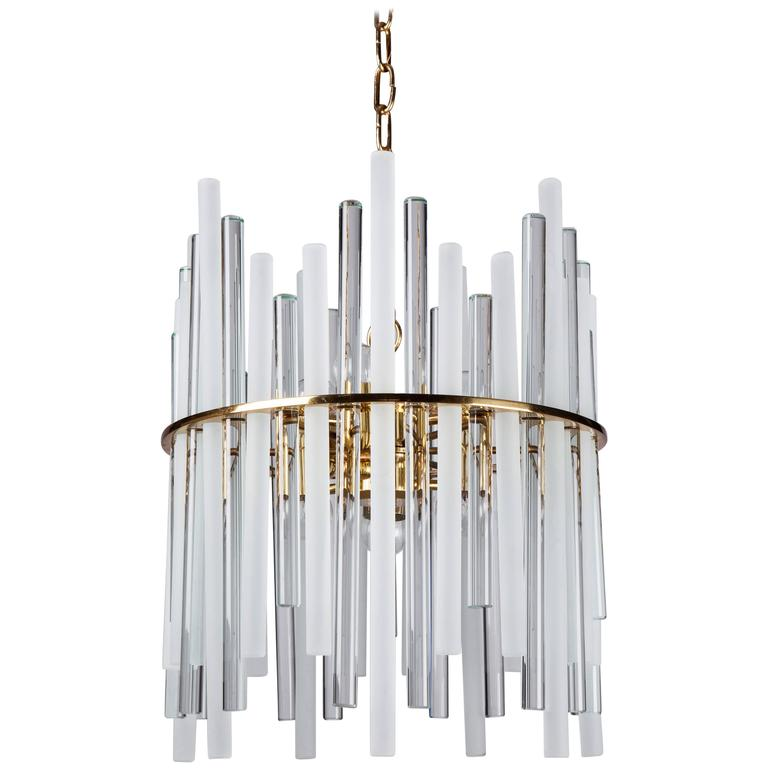 Glass rod chandelier circa 1960 for sale at 1stdibs glass rod chandelier circa 1960 for sale audiocablefo