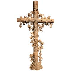 19th Century French Cast Iron Cross