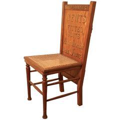 Victorian Oak Trouser Press Chair Gentleman's Outfitter Shop Display