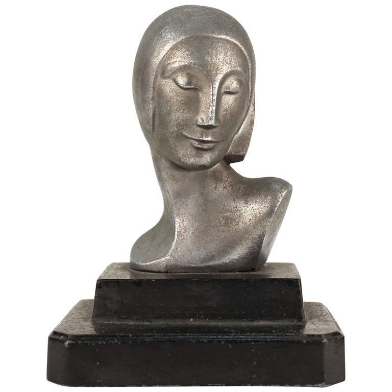 Bust of a Woman on a Black Base