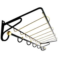 Large French Mid-Century Coat Rack, 1950s Modernist Design, Stilnovo Era