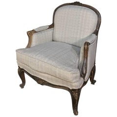 Antique French Louis XV Armchair, Bergère