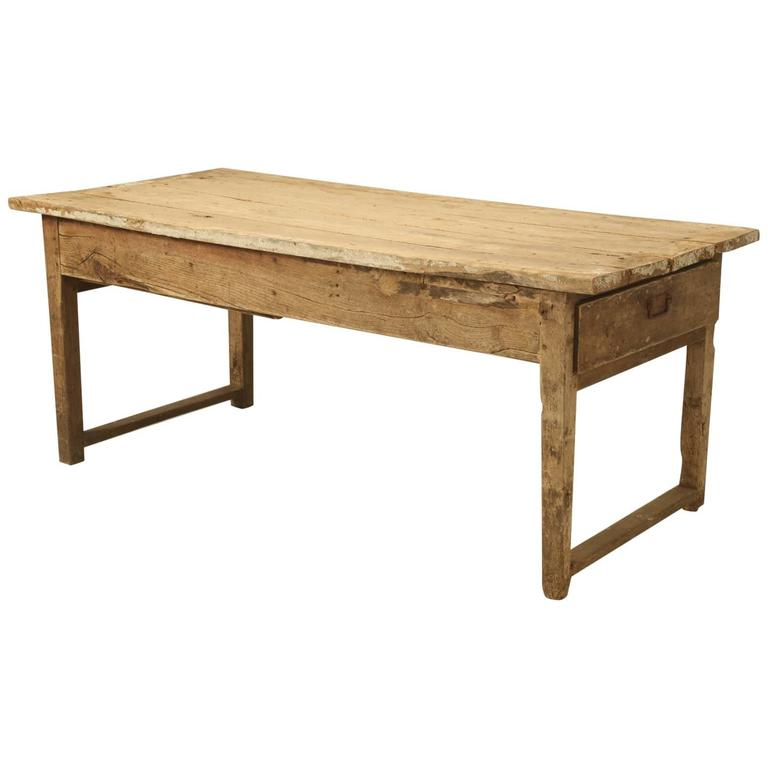 Antique country french farmhouse dining table from the 1700s for sale at 1stdibs