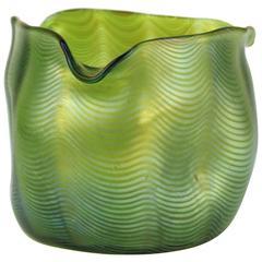 Lutz Vessel in Iridescent Green