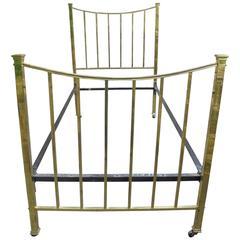 Antique Brass Framed Single Bed Frame