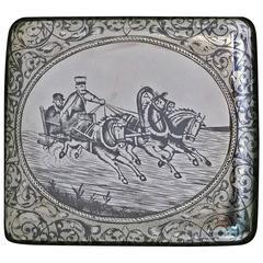 Russian Silver Niello Box Case Moscow, 1895, GK, Gustav Gustavovich Klingert