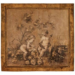 18th Century French Style Hand-Painted Panel