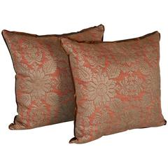 Pair of Fortuny Fabric Cushion in the Impero Pattern