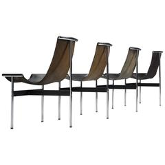Katavolos, Kelly and Littell T-Chairs in Original Black Leather