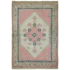 Pink Vintage Turkish Anatolian Rug