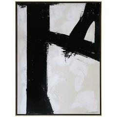"""Quiet Confidence"" Original Black and White Abstract by Karina Gentinetta"