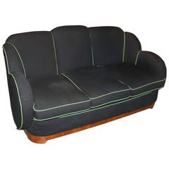 Art Deco Upholstered Sofa