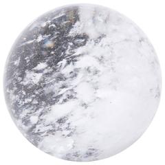 Chinese Rock Crystal Sphere with Occlusions