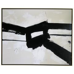 """""""Stay the Course"""" Original Black and White Abstract by Karina Gentinetta"""