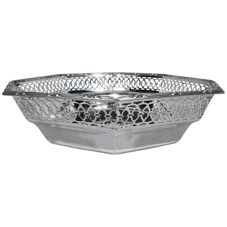 Tiffany Edwardian Pierced Sterling Silver Bowl