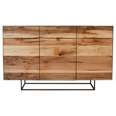 Kimball Cabinet, Sideboard, Buffet, Contemporary Modern, Steel and Wood