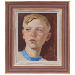 Mid-Century Portrait of a Russian Young Boy, Roy Miles Gallery, London