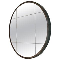 Cast Iron Industrial Wheel as Mirror Frame