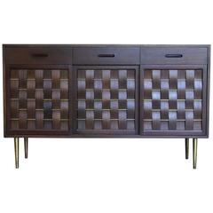 "Edward Wormley ""Basket Weave"" Front Credenza for Dunbar"