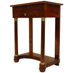 Empire Mahogany Sewing or Dressing Table with Drawer and Flip-Up Top, circa 1880
