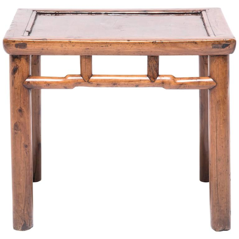 Chinese Ming Inspired Cypress Stool For Sale