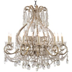 Louis XV Style Crystal Beaded Chandelier