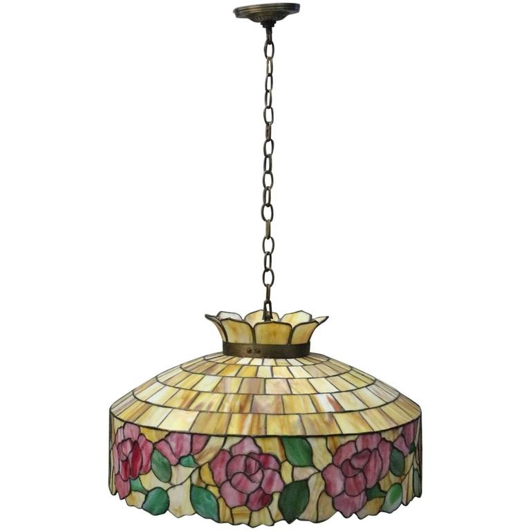 stained glass chandelier craftsman arts crafts wilkinson school leaded stained glass chandelier circa 1920 for sale and chandelier
