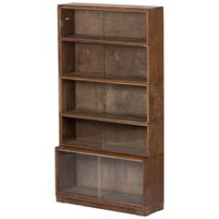 1930s Bookcase with Sliding Glass Doors from Oxford University