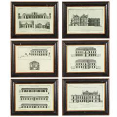 Set of Six Reprints of 18th C. French Architectural Studies