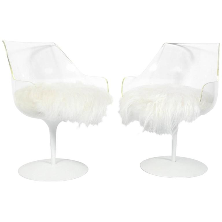Pair of Sculptural Lucite Chairs by Erwin and Estelle Laverne
