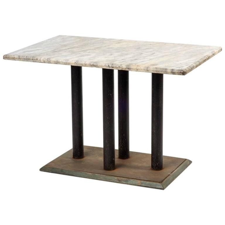 Marble Top Table Metal and Wood Base at 1stdibs : 7834343l from www.1stdibs.com size 768 x 768 jpeg 25kB