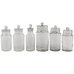 Antique Set of Six Apothecary Jars