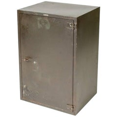 1900 English Steel Cabinet with One Door