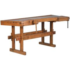 Antique 19th Century Carpenter's Workbench from Denmark