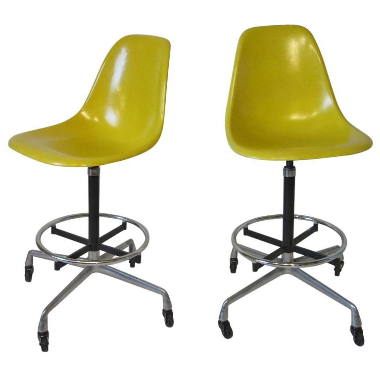 Eames Architectural Drafting or Bar Stools for Herman Miller