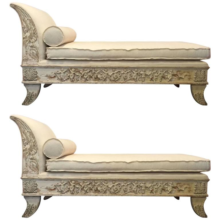 19th Century Pair of Chaises For Sale