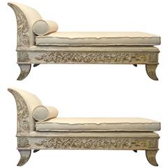 19th Century Pair of Chaises