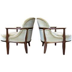 """Pair of """"Janus"""" Chairs by Edward Wormley for Dunbar"""