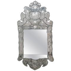 Early 20th Century Etched Venetian Mirror