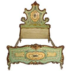 19th Century Hand-Painted Venetian Bed