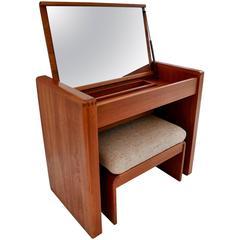 Elegant Mid-Century Vanity or Dresser from Denmark