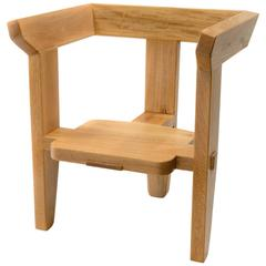 Laredo armchair, traditional joinery 3 leg wooden contemporary design - IN STOCK