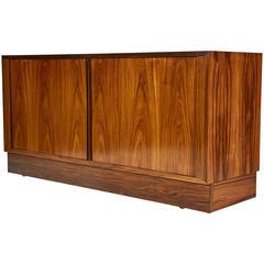 Danish Tambour Door Credenza in Brazilian Rosewood Attributed to Poul Cadovius