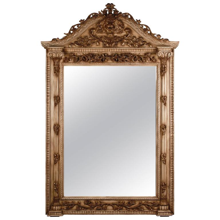 Highly Interesting Monumental Floor Mirror in the Style of the 18th Century