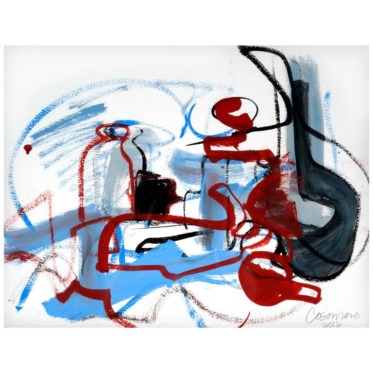 Jeanne Cosimano Abstract Modern Work on Paper For Sale